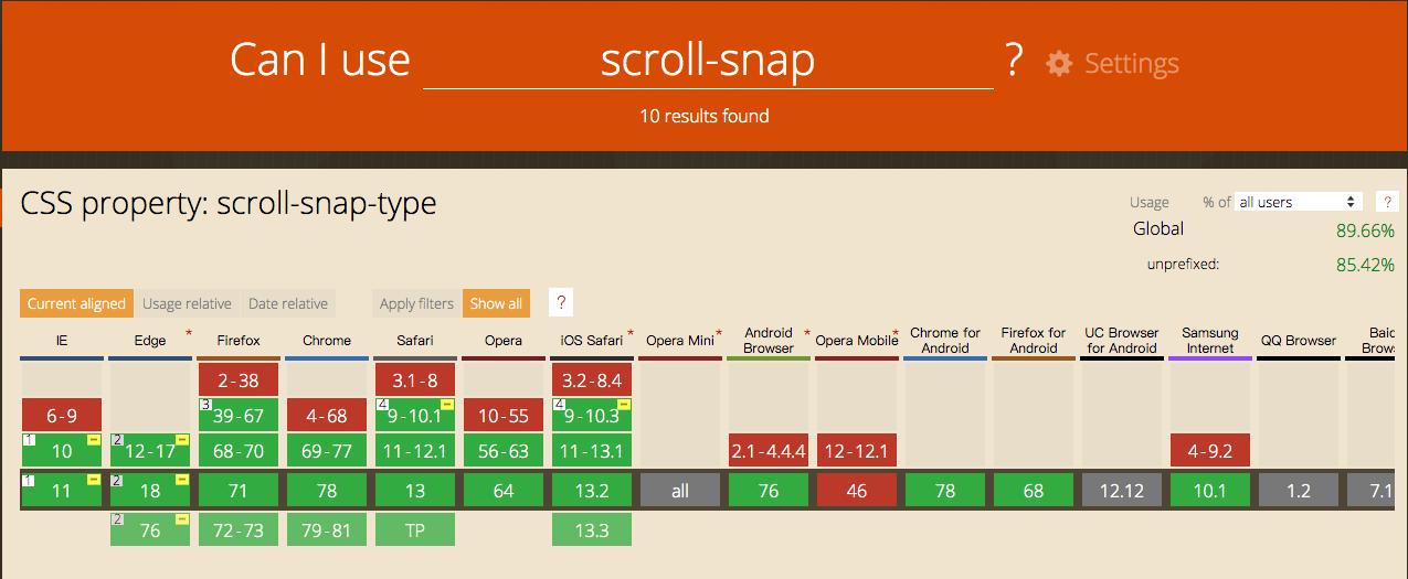 scroll-snap-caniuse