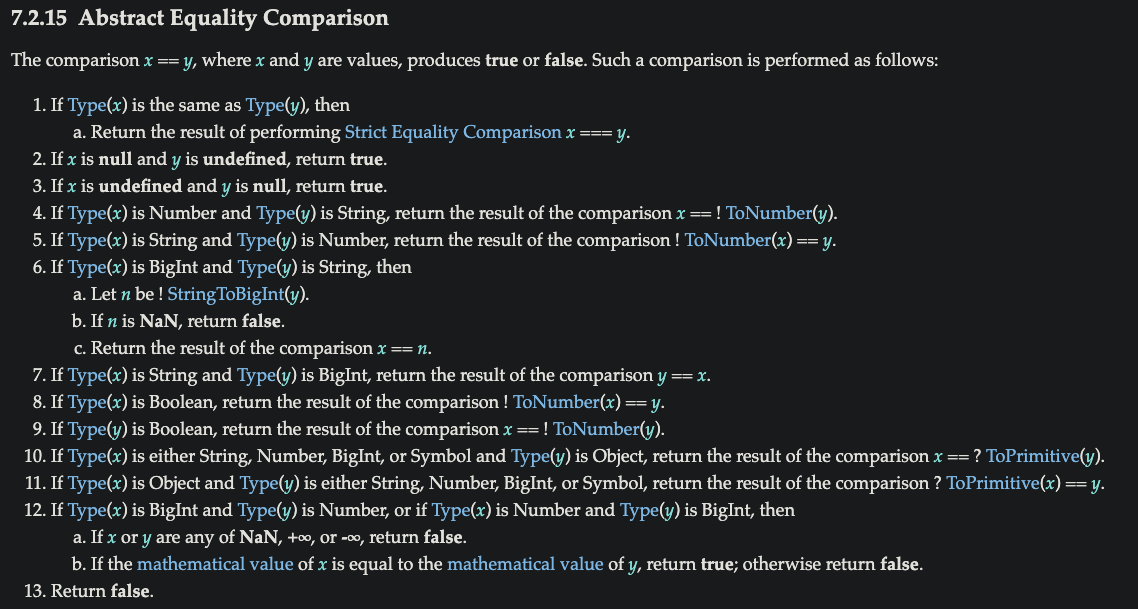 abstract equality comparsion
