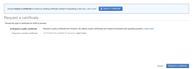 Request a public certificate