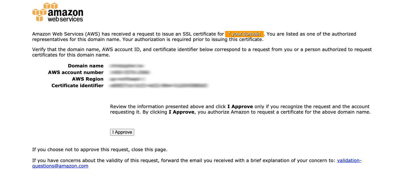 Certificate approval review