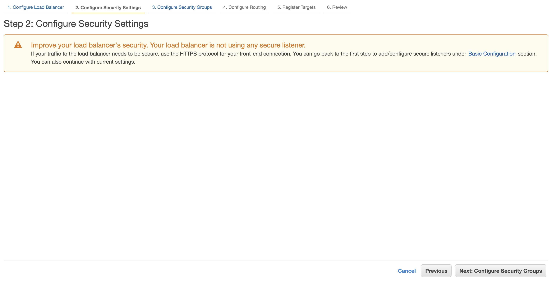Step 2: Configure Security Settings