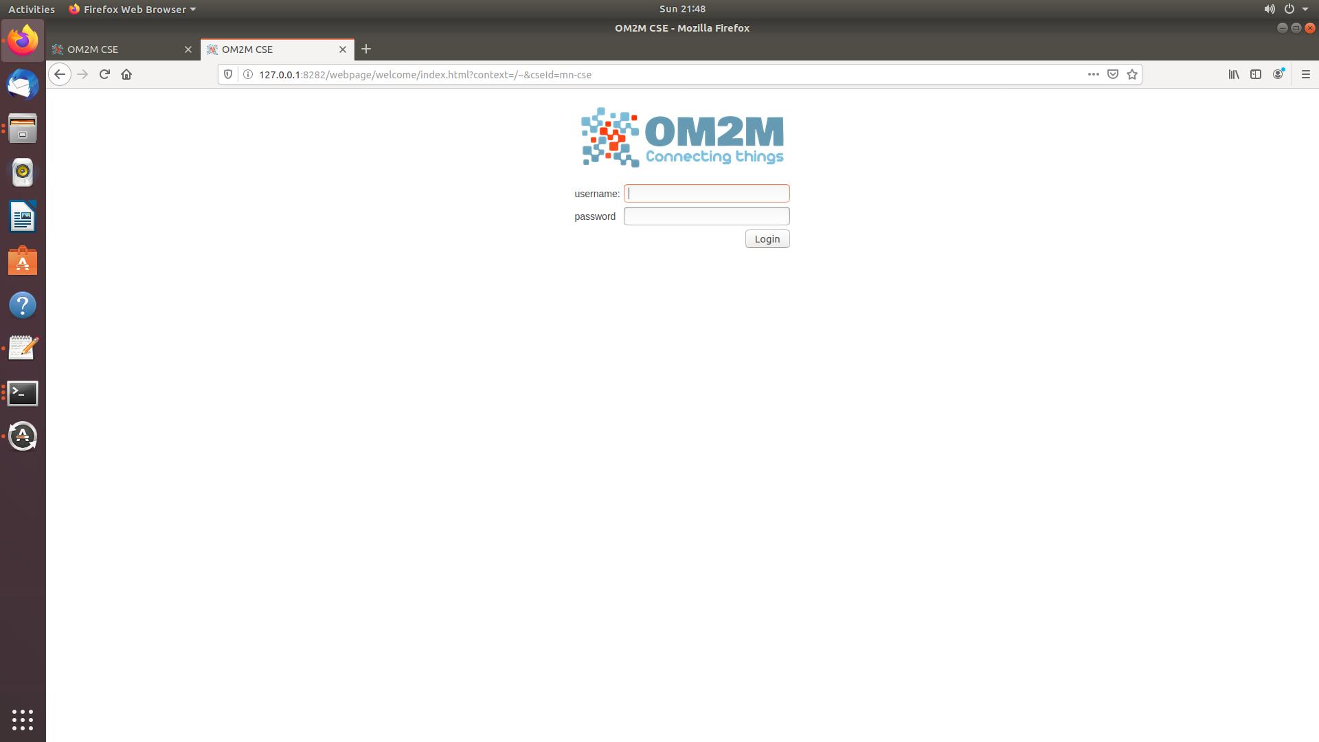 MN-CSE Login page