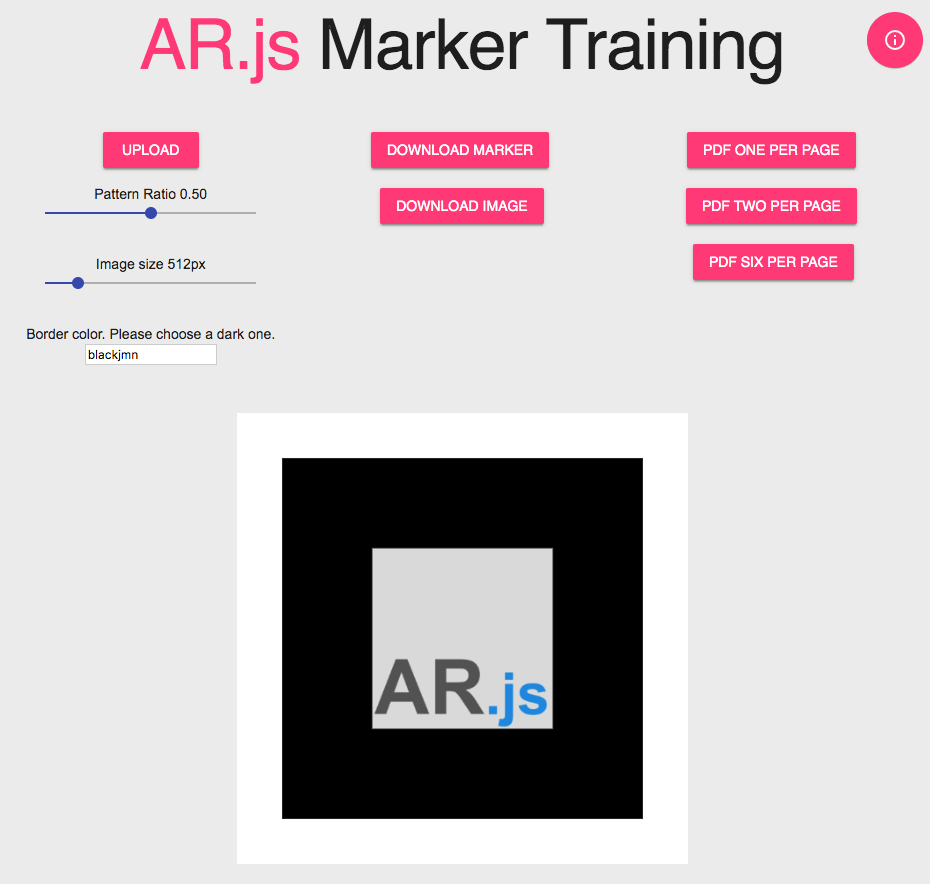 ARjs marker training