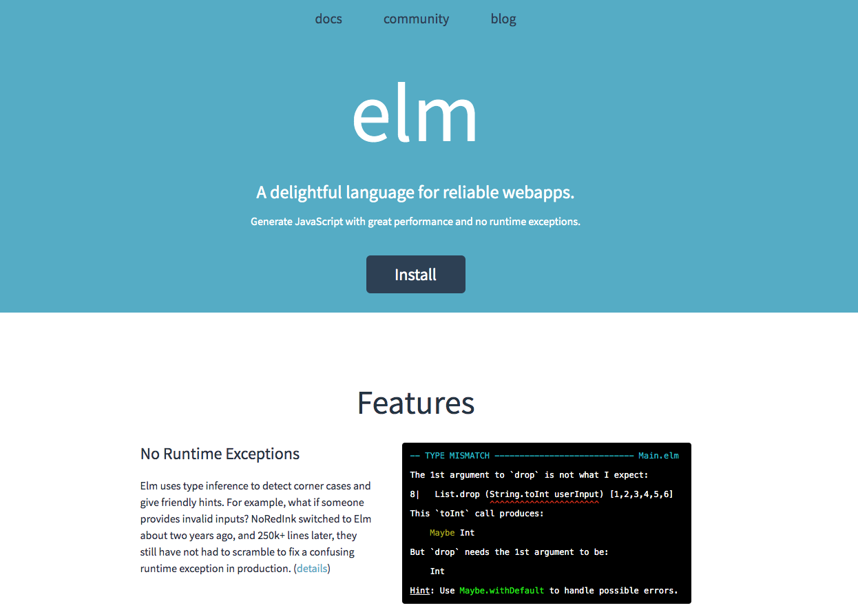 Elm Website