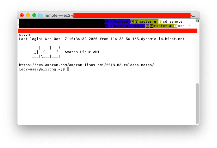 虛擬伺服器登入